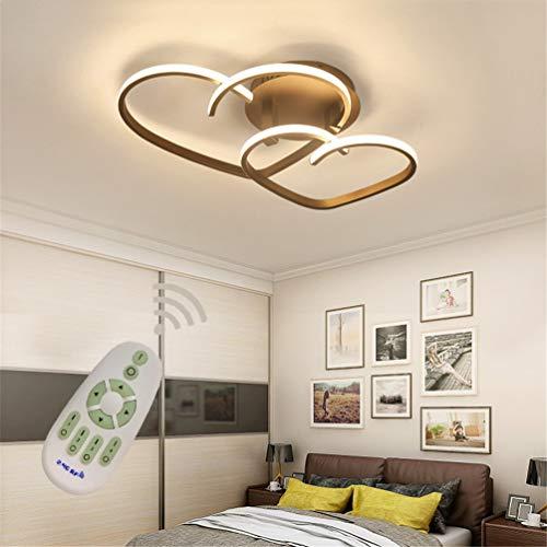 LED Modern Deckenleuchte Dimmbar Wohnzimmerlampe Fernbedienung, Neue Liebe Herz Design Acryl-schirm Deckenlampe Metall Kronleuchter für Esszimmer Küche Schlafzimmer Bad Decke Leuchten L55*W45cm