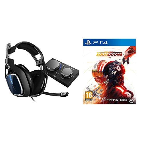 ASTRO Gaming A40 TR Auriculares alámbricos y MixAmp Pro TR, 4ta Gen, Astro Audio V2, Dolby Audio, micrófono Intercambiable, Control de Balance de Juego/Voz + Star Wars: Squadrons, Playstation 4