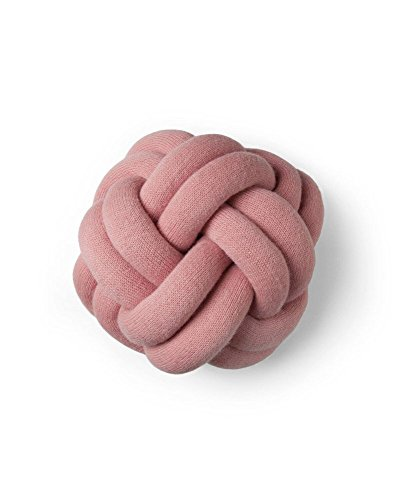 Design House Stockholm Knot Kissen, pink waschbar bei 30°C 30x30x15cm