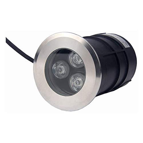 Foco LED Subacuático, Talla Pequeña IP68 12V Baja Tensión LED Foco Empotrable Al Aire Libre Usado para Jardín, Terraza, Escalera, Piscina Iluminación (Color : Warm Light, Size : 75mm-3w)