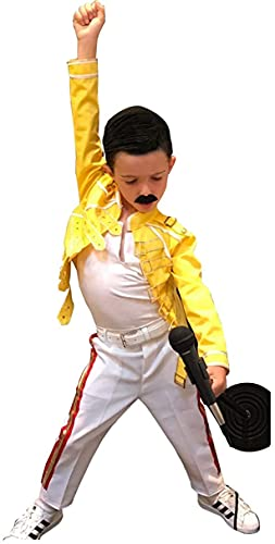 PJapparel Freddie Mercury Chaqueta para niños, Amarillo - Algodón, XXX-Large