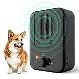 ULPEAK Dispositivo Antiladridos Para Perros, Automática Ultrasónicos Ahuyentador de Perros, Tapón de Ladridos a Prueba de Ladridos Impermeable para Perros con 3 Niveles Ajustables