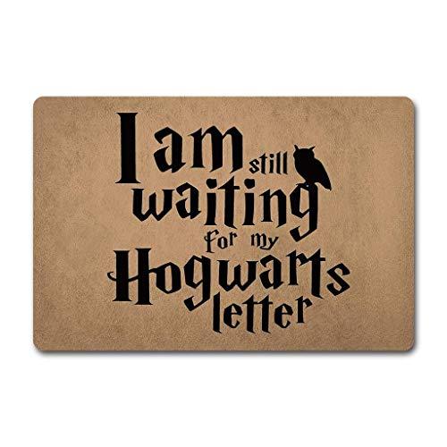 Eureya I Am Still Waiting for My Hogwarts - Felpudo (40 x 60 cm, Parte Superior de Tela no Tejida con Parte Trasera de Goma Antideslizante)