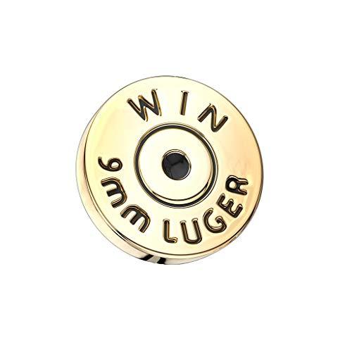 Paula & Fritz® Dermalanker Edelstahl Gold Patrone 7mm