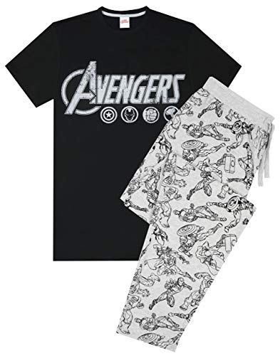 The Avengers Logo Mens Lougepants & T-Shirt Pyjama Set