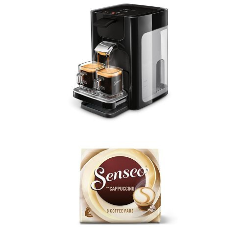 Senseo Cappuccino, 8 Kaffee Pads, 10er Pack (10 x 92 g) mit Philips Senseo HD7865/60 Quadrante Café(Kitchen)