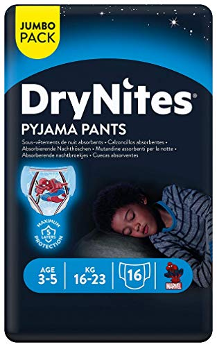 Huggies DryNites Mutandine Assorbenti per la Notte, 3-5 Anni (16-23 kg)