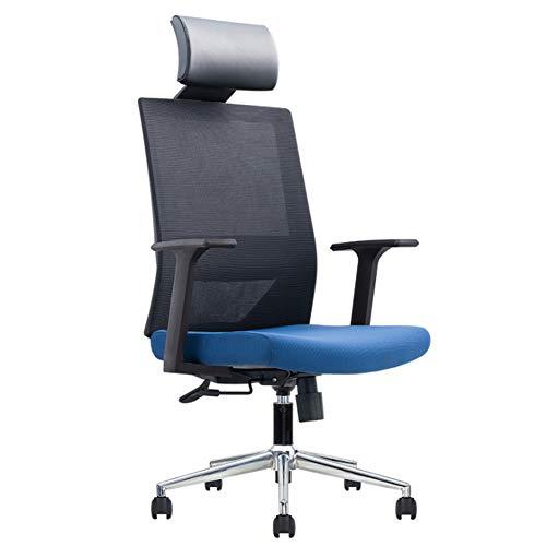 Oficina Gaming Silla Gamers Sillón Asiento ergonómico Apoyabrazos Ajustable Marco de Acero Ángulo de inclinación Ajustable 90 ° -125 °,Azul,B