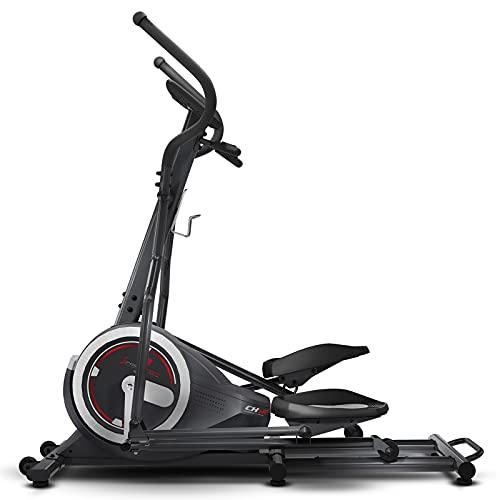 Sportstech Bicicleta Elíptica para Casa | Elíptica con Video Eventos y App Multijugador | 24 kg de Masa de Volante | 26 programas + HRC | Marca Alemana de Calidad para Equipos de Fitness | CX640