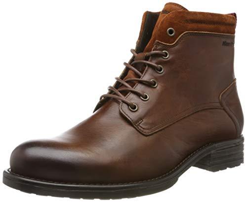 Marc O'Polo Herren 90825006302100 Biker Boots, Braun (Cognac 720), 43 EU