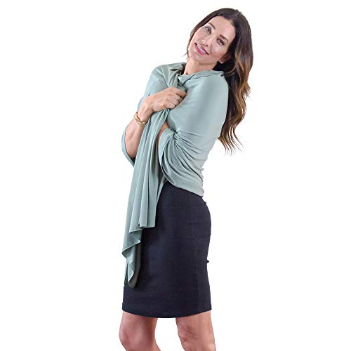 HappyLuxe Wrap and Blanket for Women Eco Friendly Soft Made in USA (Sage Green)