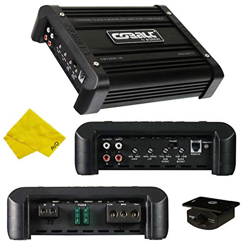 Orion Cobalt Monoblock Amplifier – Class D Amplifier 1000W RMS 2000W Max, Car Electronics Car Audio Stereo Subwoofer 1 Ohm Stable Bass Boost MOSFET Full Range Amplifier for Car Speakers Sub Amp