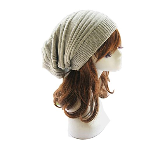 Winhurn Women New Stylish Winter Warm Knitted Baggy Beanie Cap Hat (Beige) - http://coolthings.us