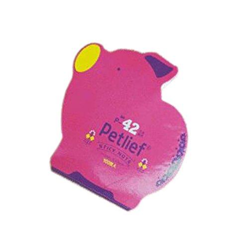 10 pedazos de forma linda del cerdo del zodiaco creativo Notas pegajosas/cojín de rasguño