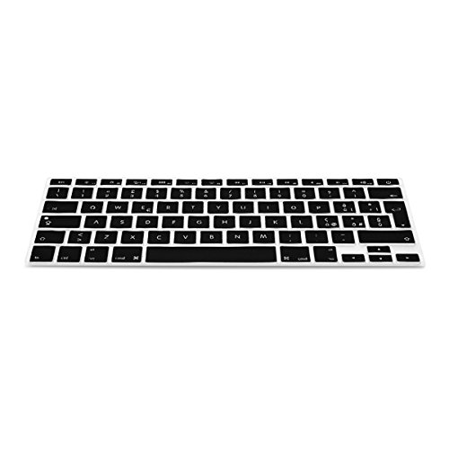 kwmobile Protezione per Tastiera QWERTY (Italiano) in Silicone Compatibile con Apple MacBook Air 13''/ PRO Retina 13''/ 15'' (a metà 2016)- Nero