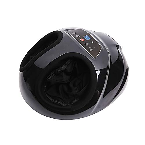 AW-SJ Foot and Leg Massager Machine with Heat, Rolling Air Compression, Shiatsu Kneading Feet Massager Promoting Blood Circulation Muscle Pain Relief, for Home Use,Black
