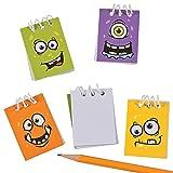 Elfen und Zwerge - Notizblock - Schreibblock Monster - für Kinder - Mitgebsel Kindergeburtstag - 12 Stück