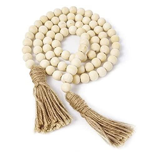 Fansport Guirnalda de Madera Guirnalda Rústico Oración Decorativa Perlas Decoración de la Pared Decoración de la Colgante