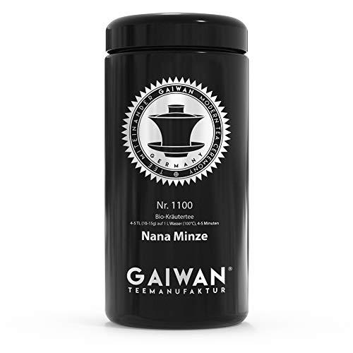Große Teedose aus Glas für losen Tee, schwarz, luftdicht, 250 g, 500 g, 1000 g, beschriftet für Tee Nr. 1100 von GAIWAN