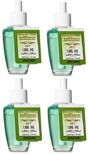 Bath And Body Works 4 Pack Key Lime Pie Wallflowers Fragrance Refill 0 8 Fl Oz