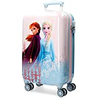 Disney Maleta de Cabina Frozen True To Myself rígida 55cm, Azul