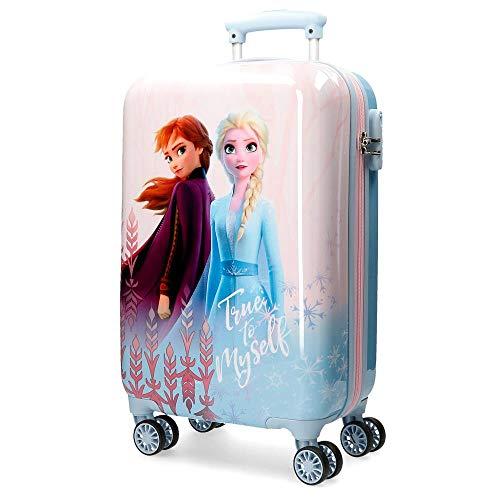 Disney Frozen True to Myself Maleta de cabina Azul 37x55x20 cms Rígida ABS Cierre combinación 32L 2,5Kgs 4 ruedas dobles Equipaje de Mano