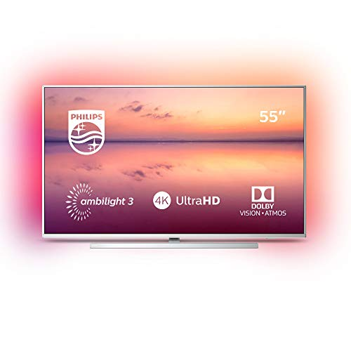 Philips 55PUS6814/12 55-inch 4K UHD Smart TV with Ambilight, HDR 10+, Dolby Vision, Dolby Atmos, Alexa Built-in - Silver (2019/2020 Model)