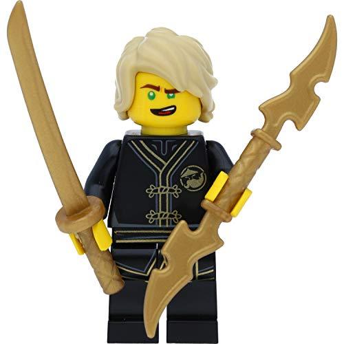 LEGO Ninjago Minifigur: Lloyd (Black Wu-Cru Training Gi) mit Schwertern