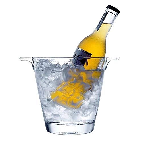 ZXL Portaghiaccio,Elegante Secchiello per Il Ghiaccio in Cristallo, Secchiello Portatile in Vetro per Champagne Maniglia per Il Trasporto Ghiaccio Contenitore per Vino Raffreddatore per campeggi