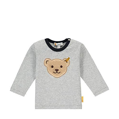 Steiff Baby-Jungen T-Shirt Langarm, Soft Grey Melange, 068