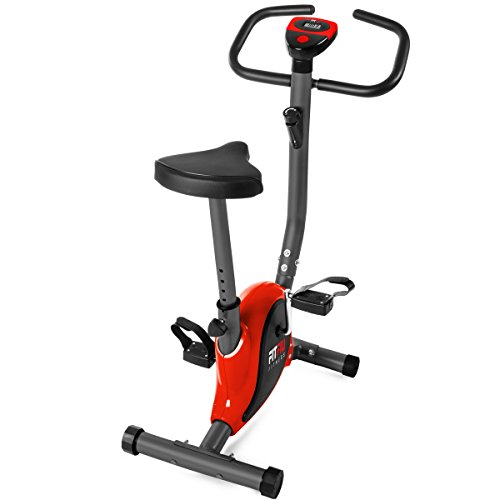 Fitfiu Fitness Roja Fitfiu BEST-100 rouge - Vélo d'exercice pliable avec volant 5Kg Adulte Unisexe