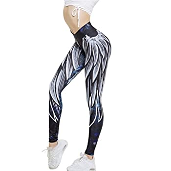 Lookatool Athletic Pants Womens Yoga Skinny Workout Fitness Cropped Pants Blue