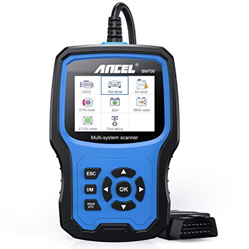 ANCEL BM700 for BMW Vehicles Diagnostic Scanner All Systems OBD II Code Reader with CBS Oil EPB SAS Fuel Pump Reset Battery Registration DPF Regen EGS Adaption Scan Tool