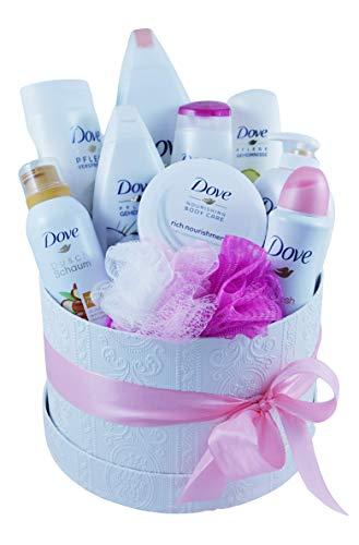 Wellness Geschenkset Dove - Geschenkkorb Wellness - Geschenk für Frauen - Wellness Geschenkkorb