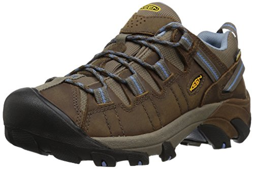 KEEN Women's Targhee II Waterproof Hiking Shoe,Dark Earth/Allure,8.5 M US