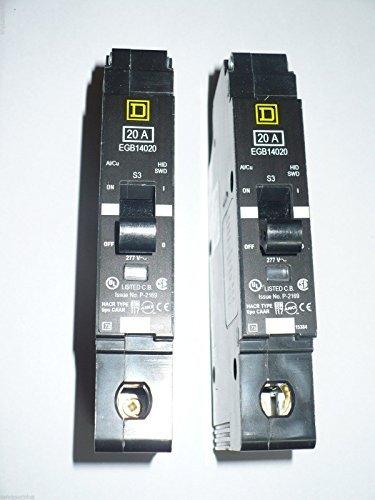 New Square D EGB14020 Circuit Breaker 1 Pole 20A 277V 35kA EGB Series