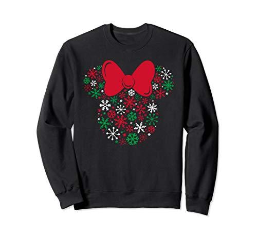 Disney Minnie Mouse Icon Holiday Snowflakes Sweatshirt