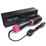 WQCAPE Hot Air Brush One-Step 2 in 1 Sèche-Cheveux et Volumizer Salon Multifonctionnel ION négatif Lisseur et Peigne à Cheveux...