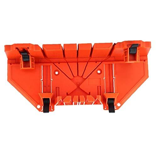 Mitre Saw Caja De Precisión Mano Mitre Box Tratamiento De La Madera Naranja Caja De Ingletes con Tipos De Ángulo De La Ranura Doble Cara Dientes Prácticos Life Tools