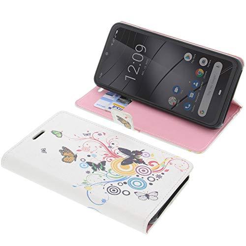 foto-kontor Tasche für Gigaset GS290 Book Style Schmetterlinge Schutz Hülle Buch