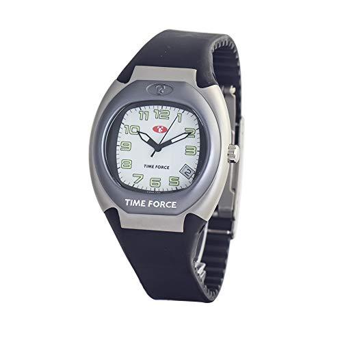 TIME FORCE Reloj Analógico para Unisex Adultos de Cuarzo con Correa en Caucho TF1692J-01