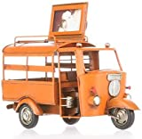 led luce italia Ape - Portafotos de color naranja antiguas decoraciones, producto artesanal hecho a mano, dimensiones 25 x 10,5 x 12 cm