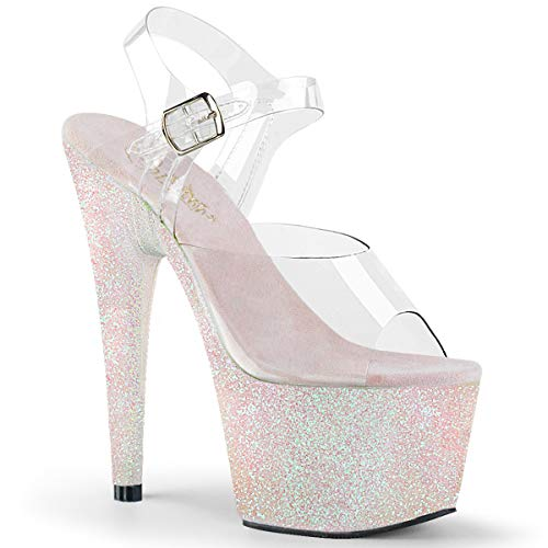 ADORE-708HMG - Ankle Strap Sandal with Holographic Glittered 2...