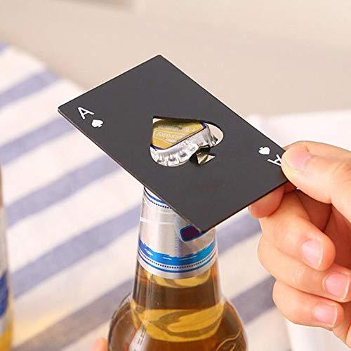 Sacacorchos Multitool Poker Multifunción Botella De Tarjeta De Bolsillo Un Equipo De Apertura De Cerveza De Crédito Multi Edc Cartera Spade Multipropósito