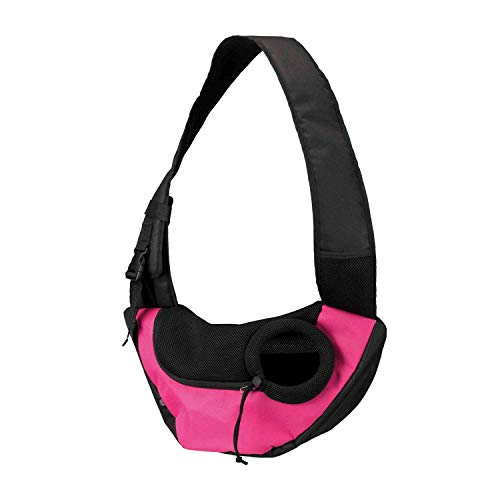 Trixie 28956 Fronttasche Sling, 50 × 25 × 18 cm, pink/schwarz