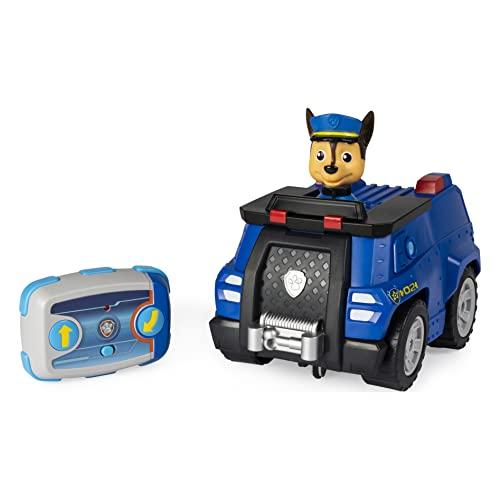 PAW Patrol Ferngeuertes Polizeiauto mit Chase - Figur, RC Fahrzeug in blau