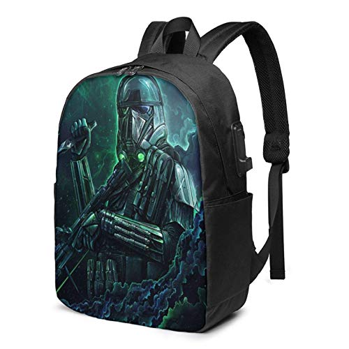 AOOEDM USB Backpack 17 in St-Ar-W-Ar Laptop Backpack with USB Charging Port Headphone,Large Capacity Business Commute Backpack,College Women Men Backpack Travel Bag 17 Inch