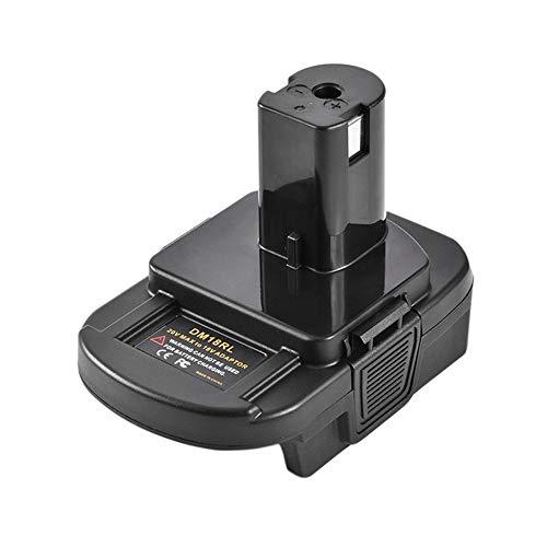 Dm18Rl Batterij converter 18V Batterij Adapter Batterij Adapter voor Dewalt Milwaukee Tool Batterij Adapter - Black