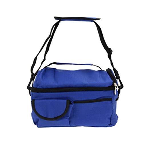 Picknicktasche Kleine Kühltasche Für Unterwegs Lebensmittel Gekühlter Beutel Großer Doppelter Eisbeutel Isolierbeutel Muttermilch-Aufbewahrungsbeutel Flasche Mumienbeutel Lebensmittelkühlbeutel-Blau