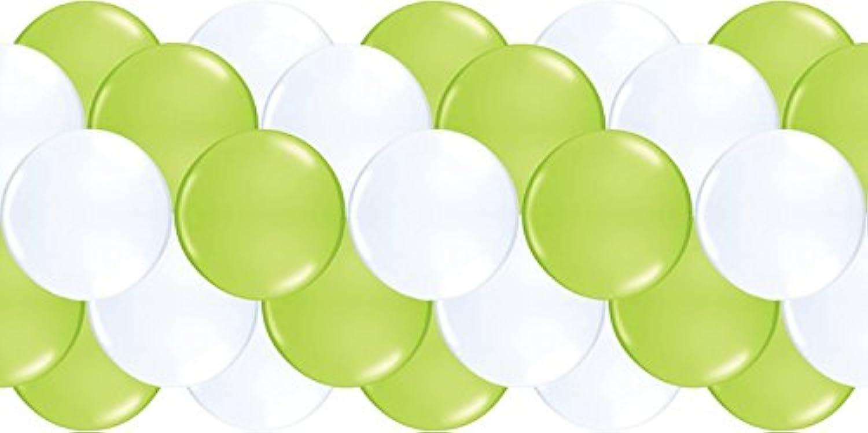Luftballongirlanden-Set  Apfelgrün & Wei  100 Meter - partydiscount24